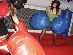inflatable boxing ring with gloves rental, houston, tx - kingkongpartyrentals.com