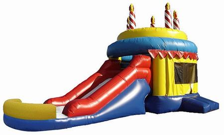 Birthday Cake With Slide Moonwalk Rental Houston Tx