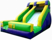 12ft splash waterslide with pool rental, houston, tx - kingkongpartyrentals.com