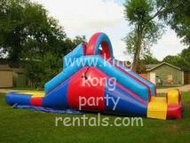 13ft waterslide with pool rental, houston, tx - kingkongpartyrentals.com