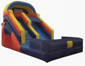 16ft splash water slide with pool rental, houston, tx - kingkongpartyrentals.com